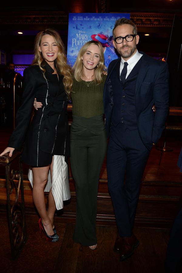 Blake Lively,Emily Blunt, Ryan Reynolds